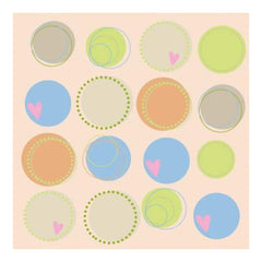 Heidi Grace - Pocket Scraps Day Dreamer Circles 12X12 Glitter Paper (Pack Of 5)