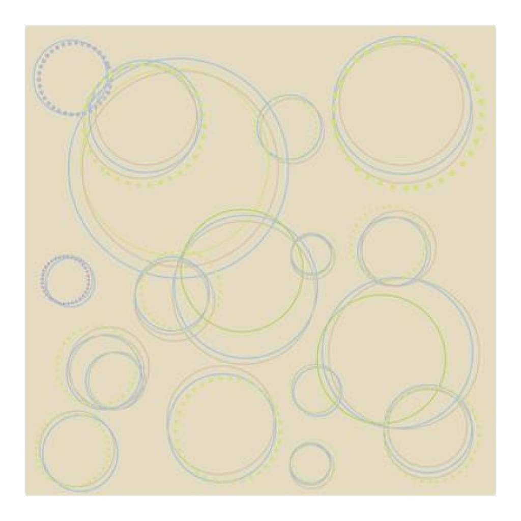 Heidi Grace - Pocket Scraps Day Dreamer Round And Round 12X12 Glitter Paper (Pack Of 5)