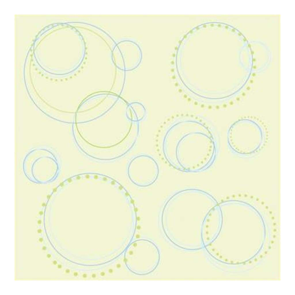 Heidi Grace - Pocket Scraps Inspire Me Round And Round 12X12 Glitter Paper (Pack Of 5)