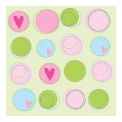 Heidi Grace - Pocket Scraps Loving You Circles 12X12 Glitter Paper (Pack Of 5)