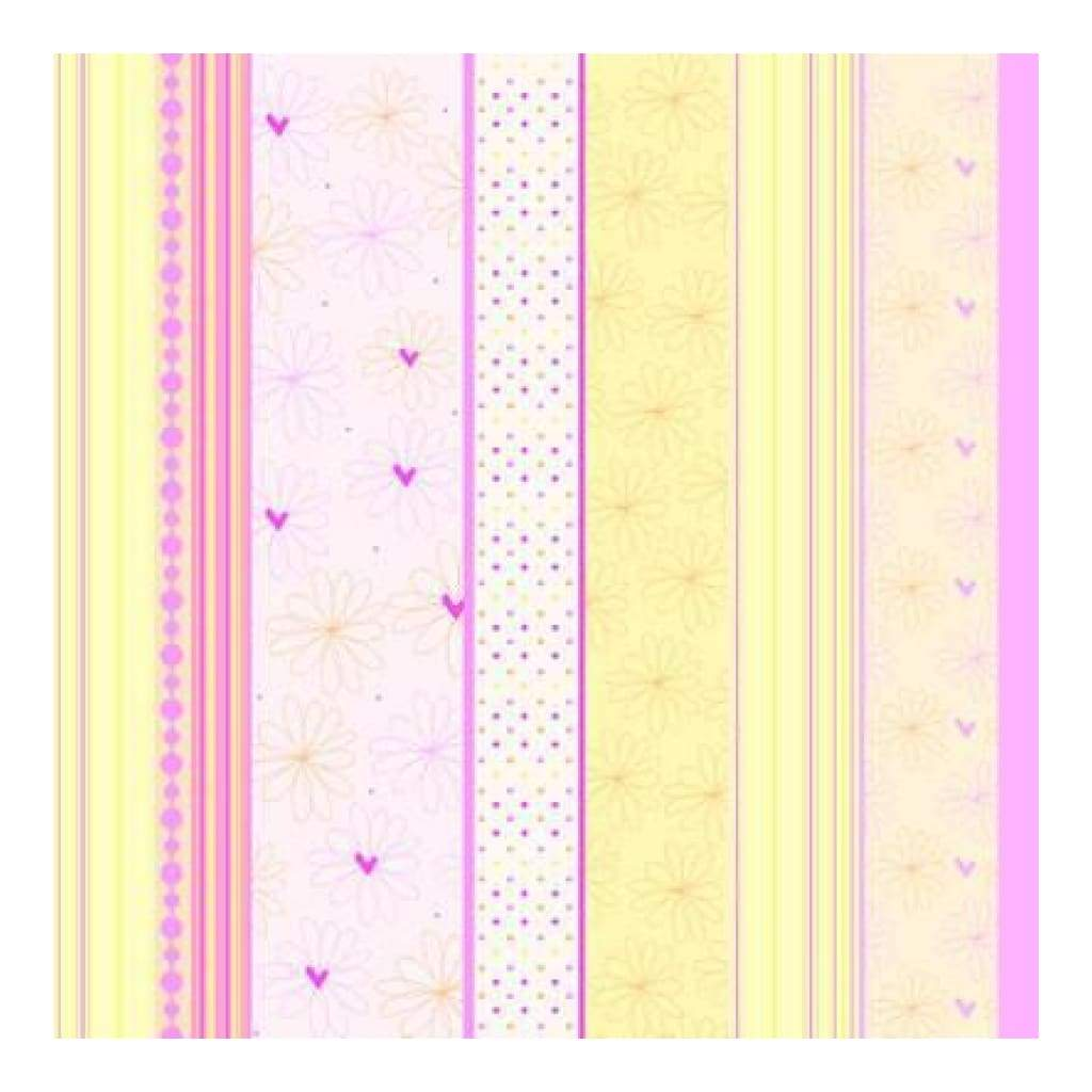 Heidi Grace - The Bouquet - Bouquet Decor Stripe 12X12 Paper (Pack Of 10)