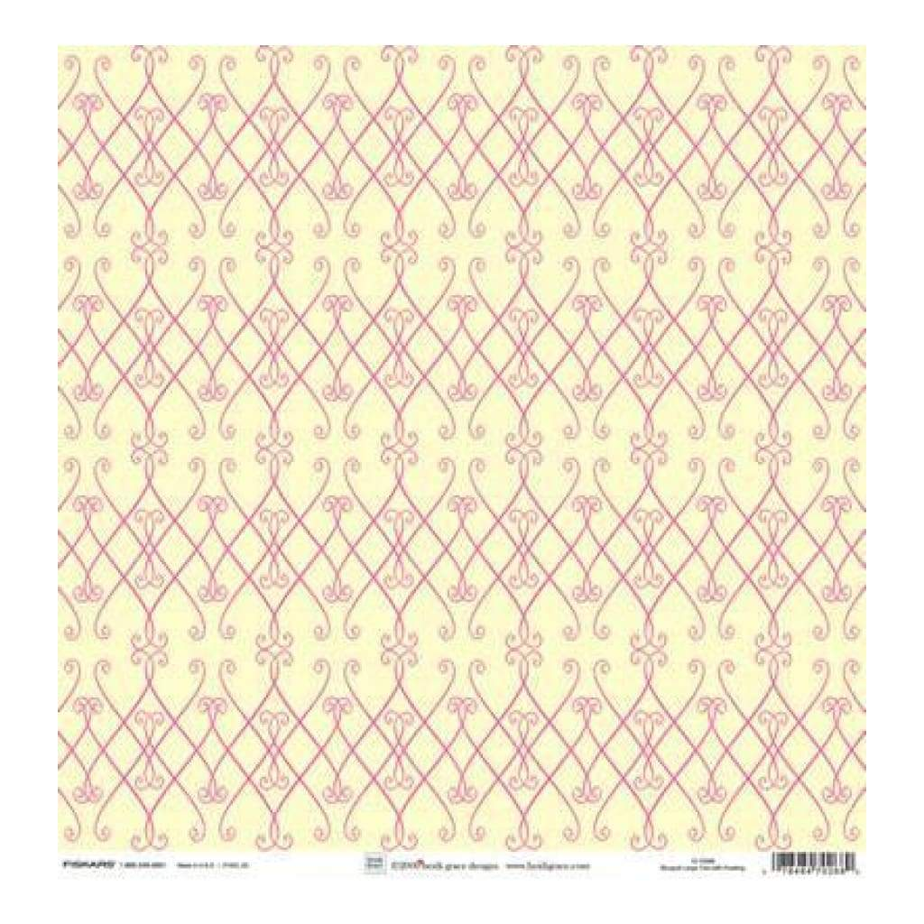 Heidi Grace - The Bouquet - Large Trim With Flocking 12X12 Shimmer & Glitter Paper (Pack Of 5)