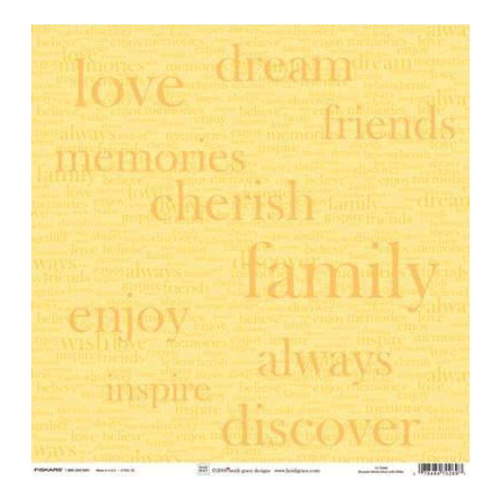 Heidi Grace - The Bouquet - Bouquet Words 12X12 Shimmer & Glitter Paper (Pack Of 5)