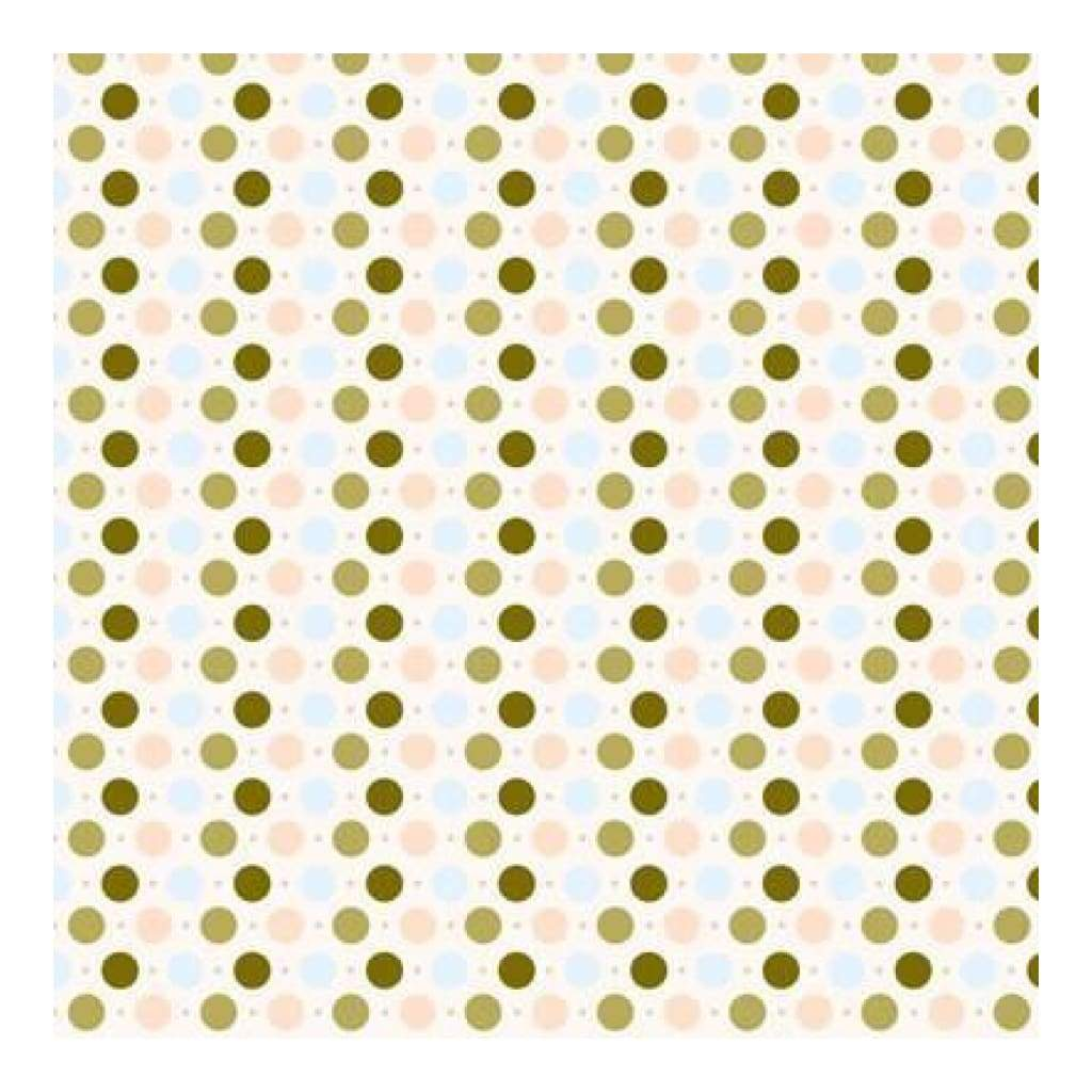 Heidi Grace - The Woodland - Woodland Dots With Flocking 12X12 Shimmer Paper (Pack Of 5)