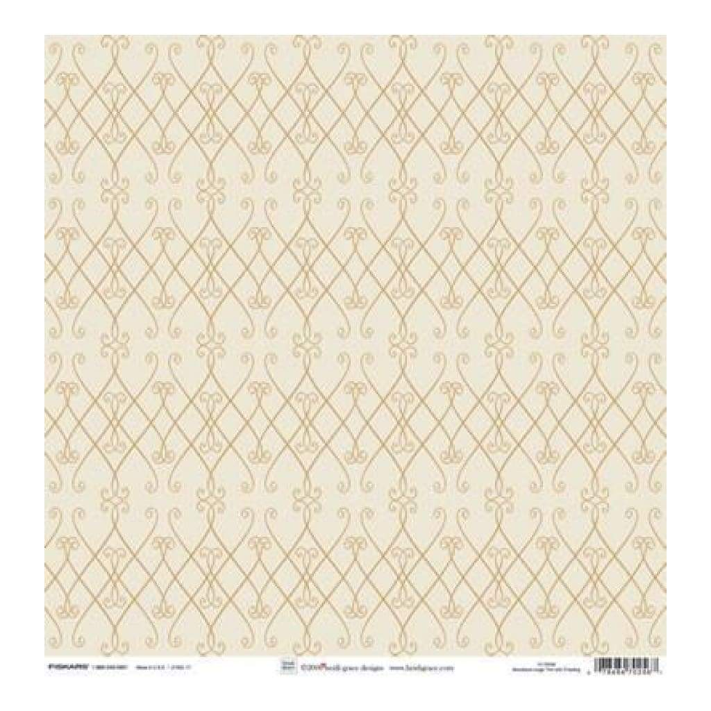 Heidi Grace - The Woodland - Large Trim With Flocking 12X12 Shimmer & Glitter Paper (Pack Of 5)