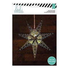 Heidi Swapp 7-Point Star Paper Lantern 17 Inch  Gold Foil
