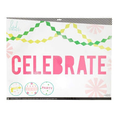 Heidi Swapp Chalk Art Stencils 27X21 inch 3 Pack - Celebration