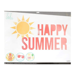 Heidi Swapp Chalk Art Stencils 27X21 inch 3 Pack - Happy Summer
