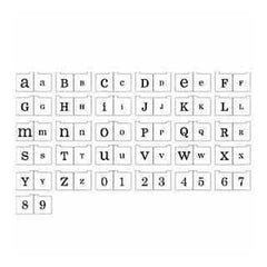 Heidi Swapp - Foam Stamps - Alphabet - She - Upper And Lowercase And Numbers