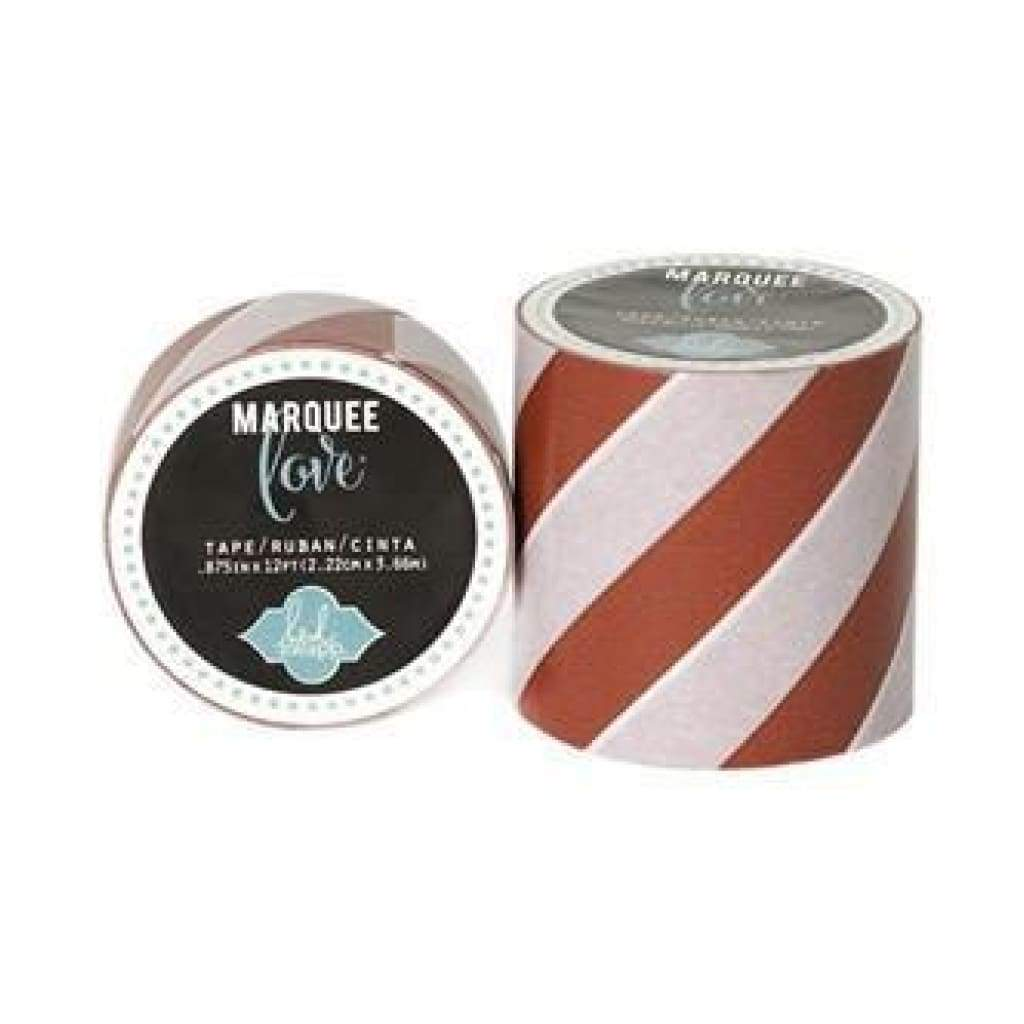 Heidi Swapp Marquee Love Washi Tape .875Inch - Red Stripe 12Yards