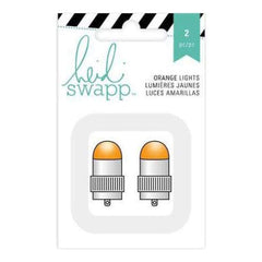 Heidi Swapp Paper Lantern Lights 2 Pack  Orange