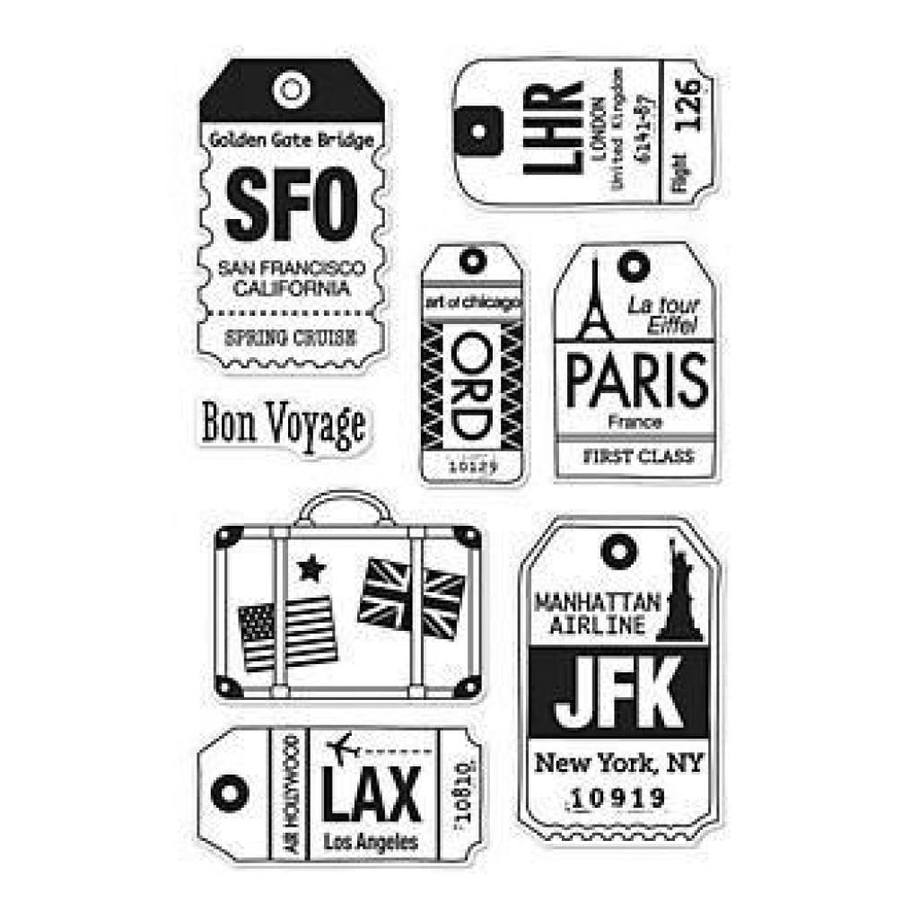Hero Arts Clear Stamps 4X6 Sheet - Luggage Tags