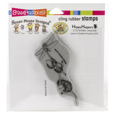 Stampendous House Mouse Cling Stamp Dragonfly Ride