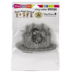 Stampendous House Mouse Cling Stamp Icing Roses