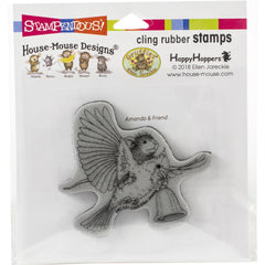 Stampendous House Mouse Cling Stamp - Cardinal Bell