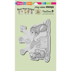 Stampendous House Mouse Cling Stamp - Popcorn Birthday