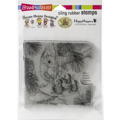 Stampendous House Mouse Cling Stamp - Squirrel Singers