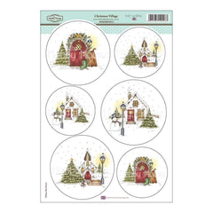 Hobby House -Daisy Mae Draws Topper Sheet 8.5 inch X12.2 inch Christmas Village