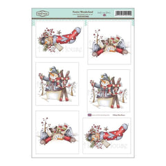 Hobby House -Daisy Mae Draws Topper Sheet 8.5 inch X12.2 inch Festive Wonderland