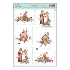 Hobby House -Daisy Mae Draws Topper Sheet 8.5 inch X12.2 inch Gingerbread Treats
