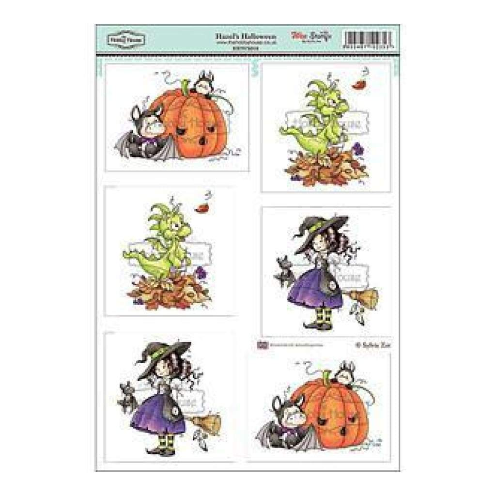 Hobby House - Wee Stamps Topper Sheet 8.3In.X12.2In. Hazel's Halloween