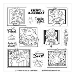 Hot Off The Press Acrylic Stamps 8Inchx8inch Sheet Girl Frames