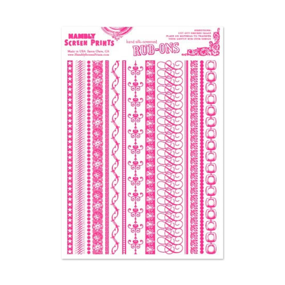 Hambly Screen Prints - Rub-ons On Edge - Pink