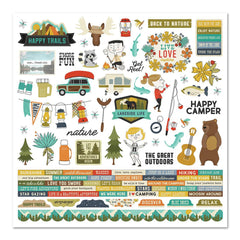 Simple Stories - Happy Trails Cardstock Stickers 12X12in