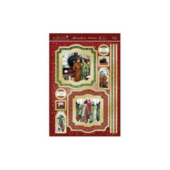 Hunkydory Festive Deco Shimmer A4 Topper Set Home For Christmas