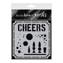 Hunkydory For The Love Of Masks 5.5inch X5.5inch Cheers To You