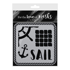 Hunkydory For The Love Of Masks A6 Stencil - Set Sail