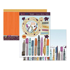 Hunkydory Special Days A4 Topper Set - Time For New Stationery