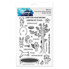 Simon Hurley Create - Cling Stamps 6 inch X9 inch - Trampoline Friends