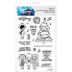 Simon Hurley create. - Cling Stamps 6 inch X9 inch Carolling Squad