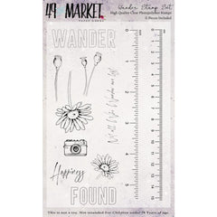 49 And Market Clear Stamps 4in x 6in - Wander