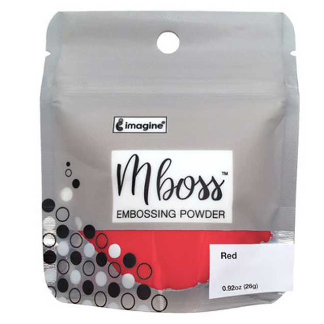 Imagine Mboss Embossing Powder - Red - 0.92oz, 26g