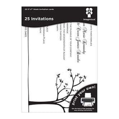 Imaginisce - Black Ice Laser Printable Invitations 5X7 - Tree Line