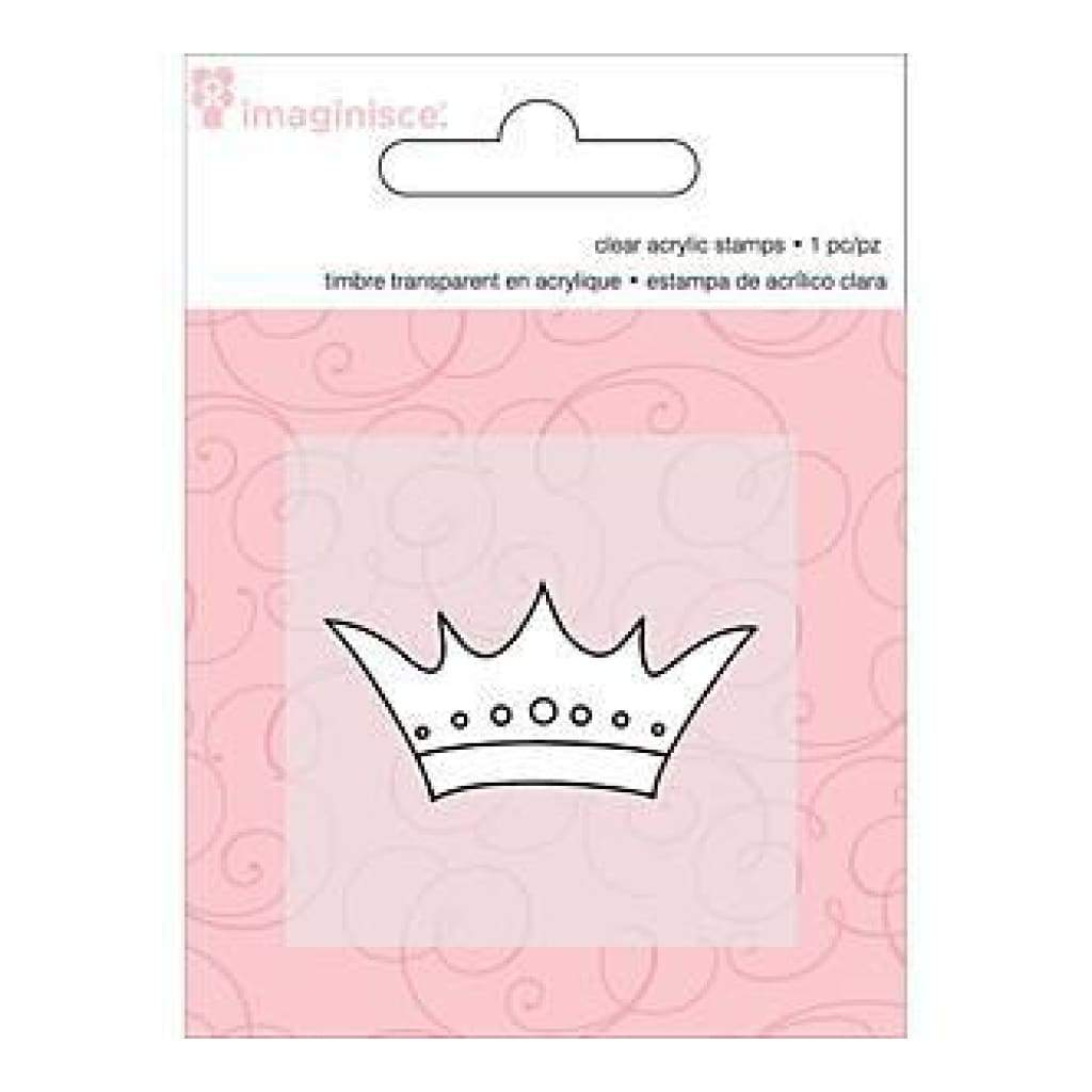 Imaginisce - Little Princess Clear Acrylic Snag'ems Stamps 2Inch X2inch - Crown