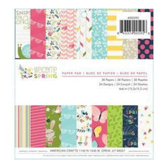 Imaginisce  -  Paper Pad 6In.X6in. 36 Pack Welcome Spring