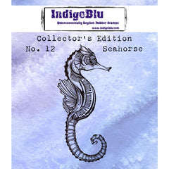 IndigoBlu Collectors Edition Cling Mounted Stamp 2 inch X2 inch - #12 Seahorse