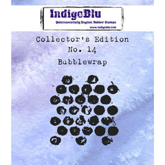 IndigoBlu Collectors Edition Cling Mounted Stamp 2 inch X2 inch - #14 Bubblewrap