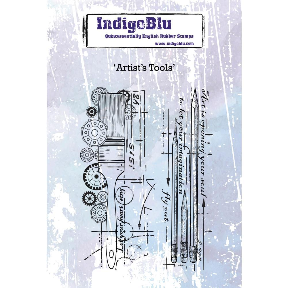 IndigoBlu Cling Mounted Stamp 5 inchX4 inch Artists Tools