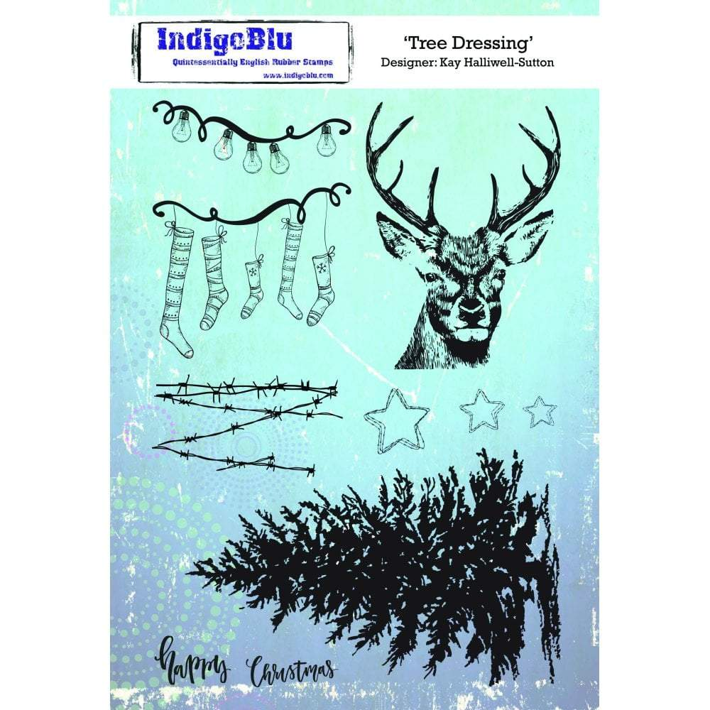 IndigoBlu Cling Mounted Stamp 9 inchX6.5 inch Tree Dressing