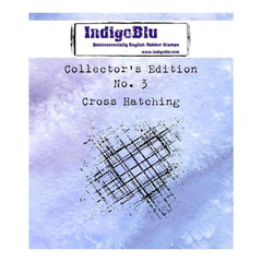 IndigoBlu Cling Mounted Stamp 2inch X2inch Cross Hatching
