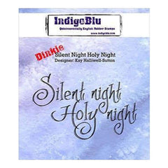 Indigoblu Cling Mounted Stamp 3 Inch X3 Inch  Silent Night Holy Night