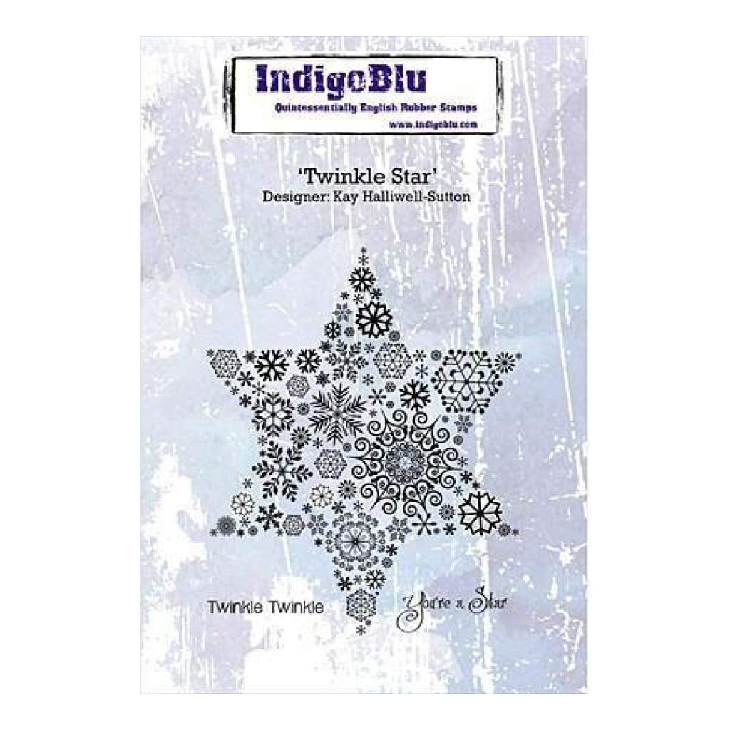 Indigoblu Cling Mounted Stamp 5 Inch X4 Inch  Twinkle Star