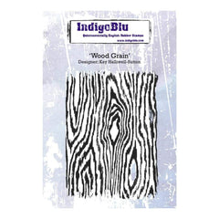 IndigoBlu Cling Mounted Stamp 5inch X4inch Wood Grain