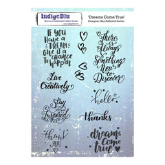 IndigoBlu Cling Mounted Stamp 8inch X5.5inch Dreams Come True