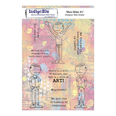 IndigoBlu Cling Mounted Stamp 8inch X5.5inch Mini Mike #1