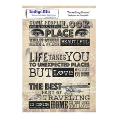 IndigoBlu Cling Mounted Stamp 8inch X5.5inch Traveling Home